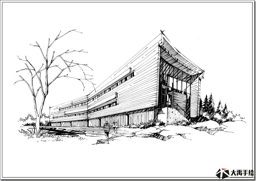 《每周一画》建筑手绘强化班
