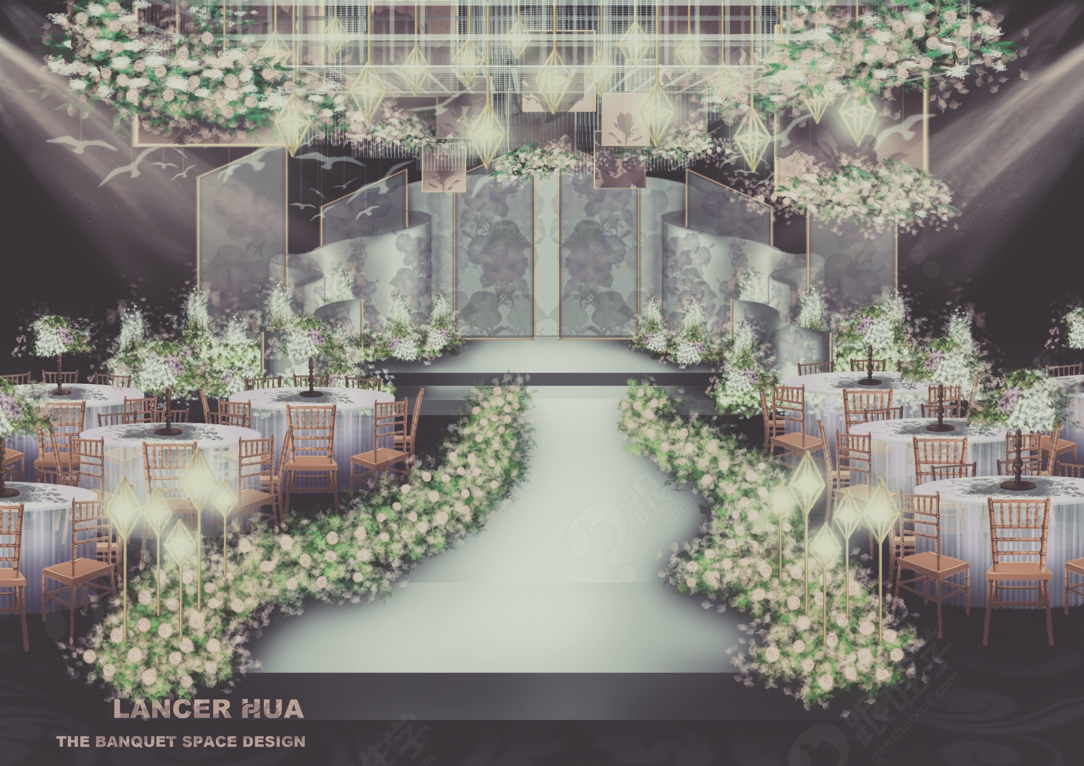 第一章:婚礼设计概念与创意思路 第二章:婚礼手绘教学准备&单体物体