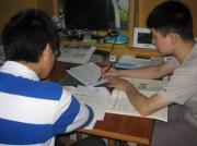 王老师正在给学生上课