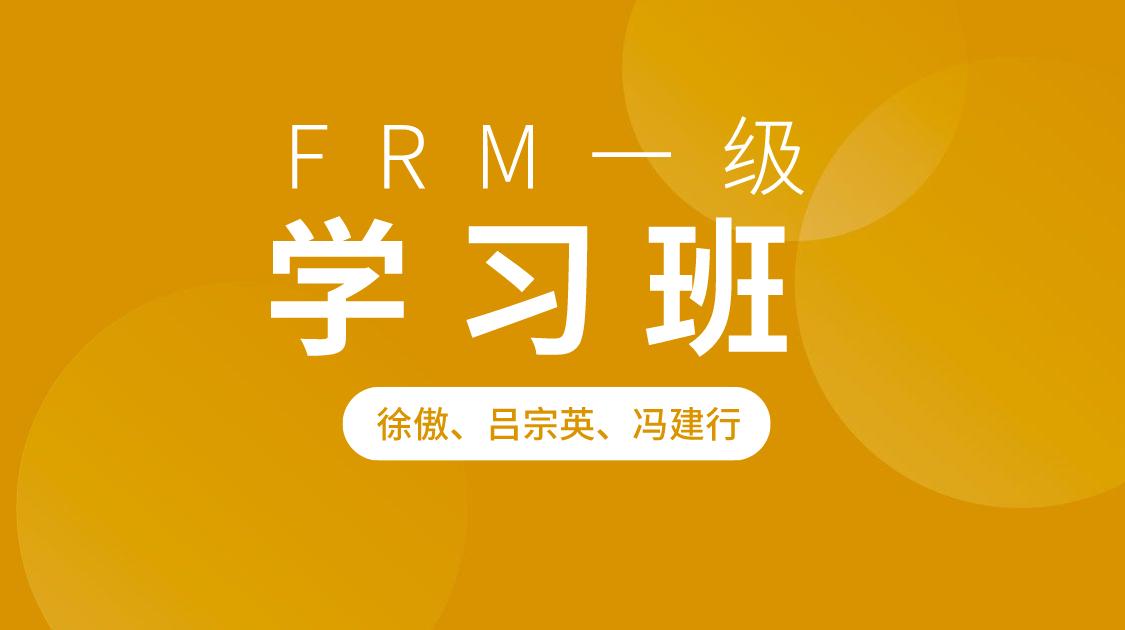 FRM一级学习班