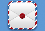 扁平2.0风格信封icon制作-黄薇
