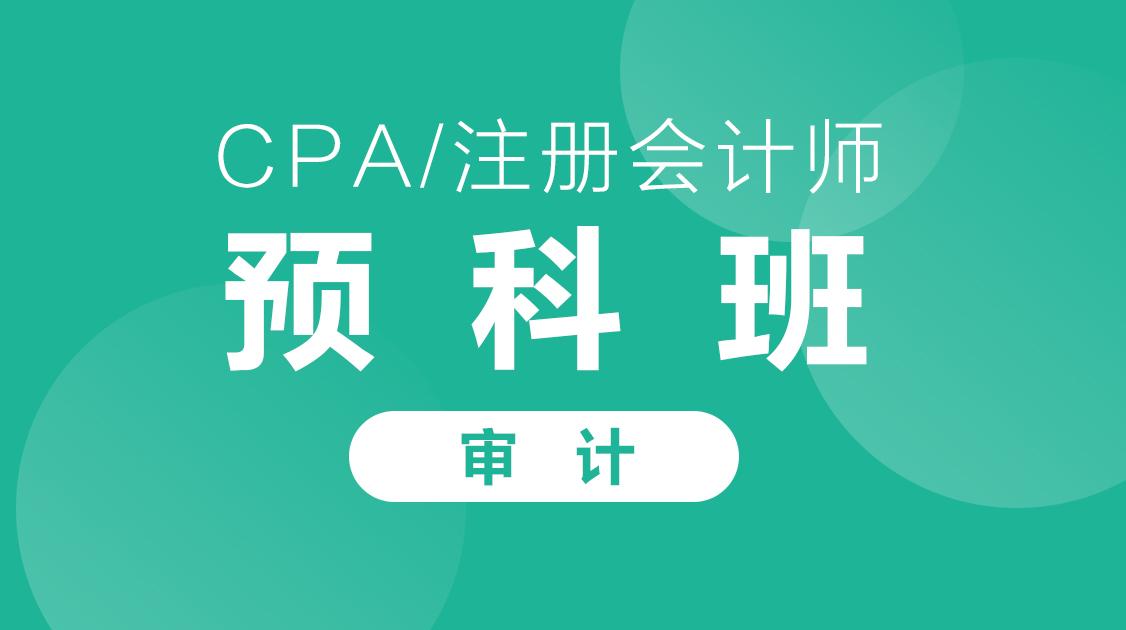 2020年CPA《审计》预科班