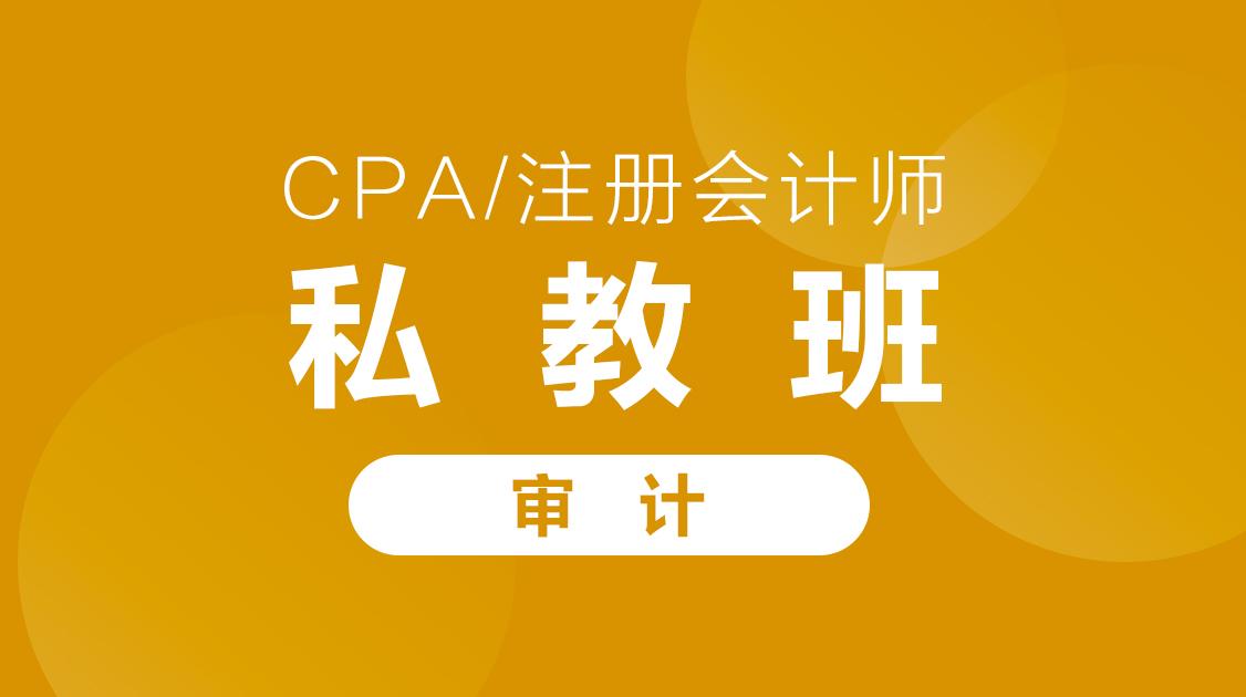 2020年CPA《审计》私教班