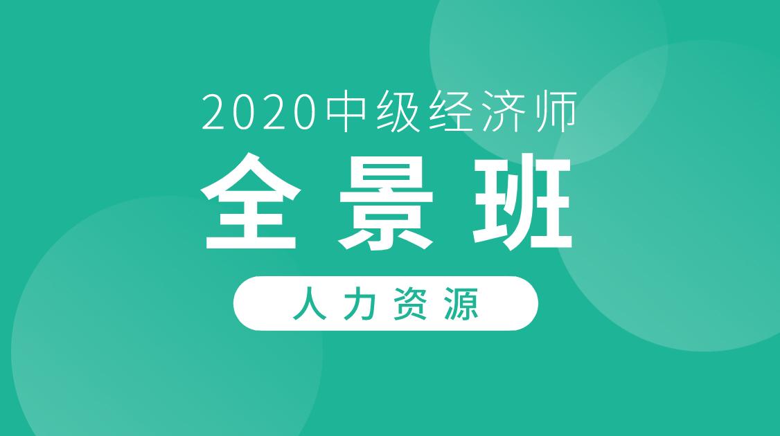 2020中级经济师《人力资源》全景班